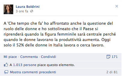 Post Laura Boldrini